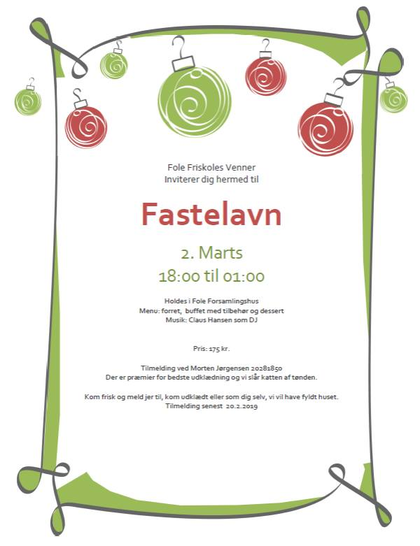 fastelavnsfest for voksne